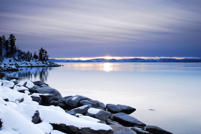 Winter Lake Tahoe