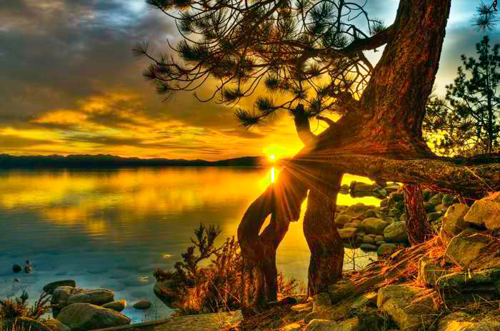 Sun Burst Lake Tahoe