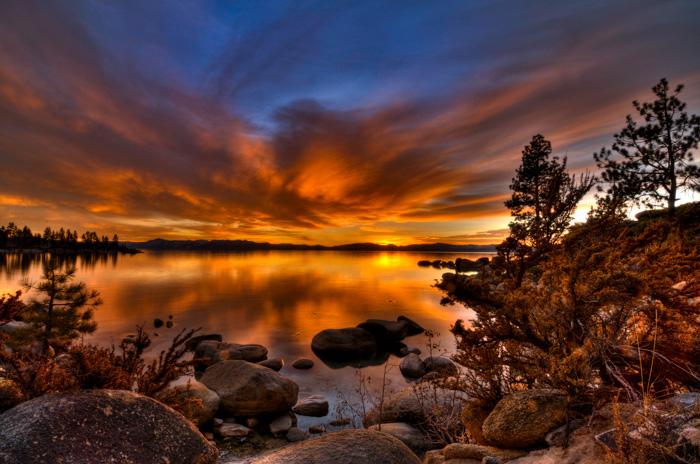 Sunset Lake Tahoe