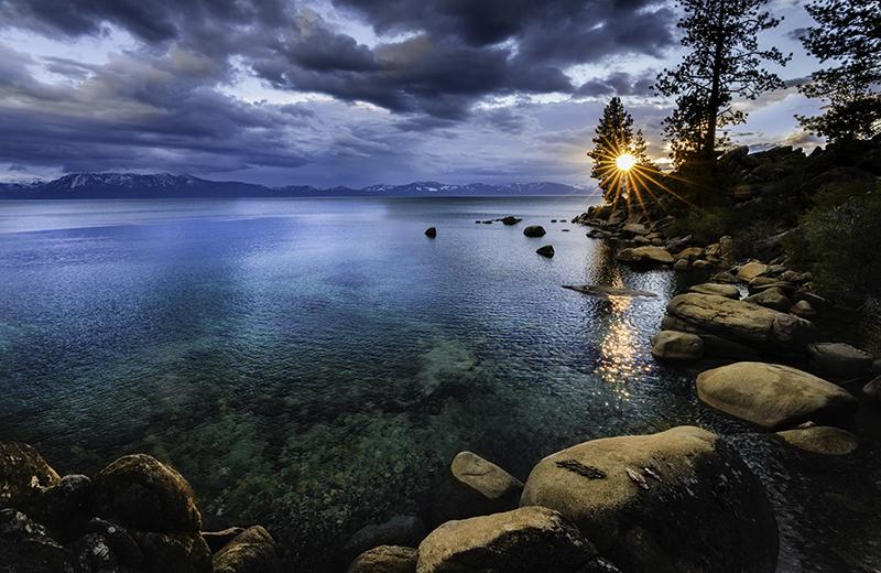 Spring storm Lake Tahoe