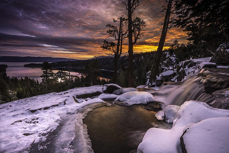 Sunrise Eagle Falls Emerald Bay